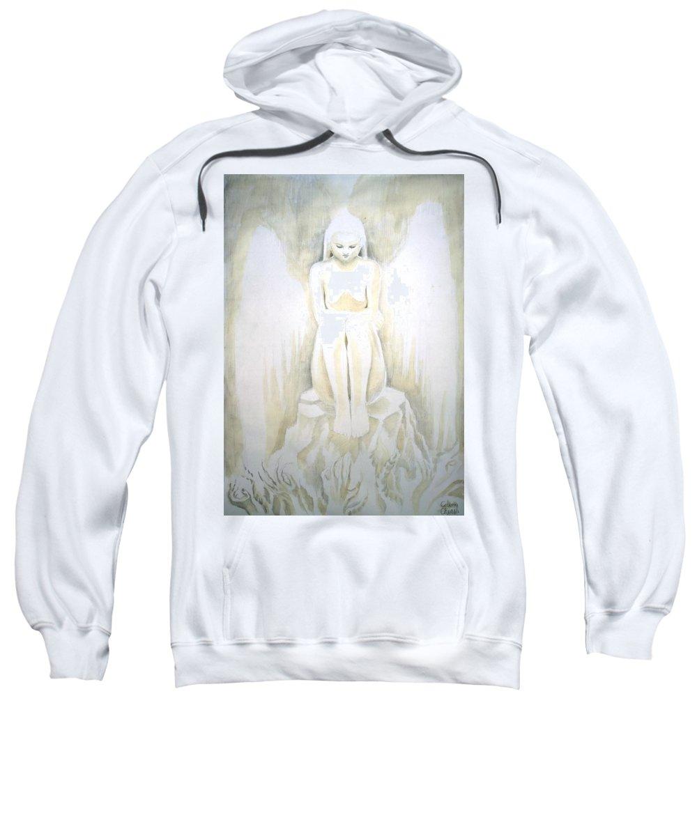 Innocence Sweatshirt featuring the painting Innocence by Chirila Corina