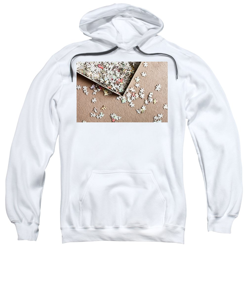 Background Sweatshirt featuring the photograph Jigsaw Puzzle by Tom Gowanlock