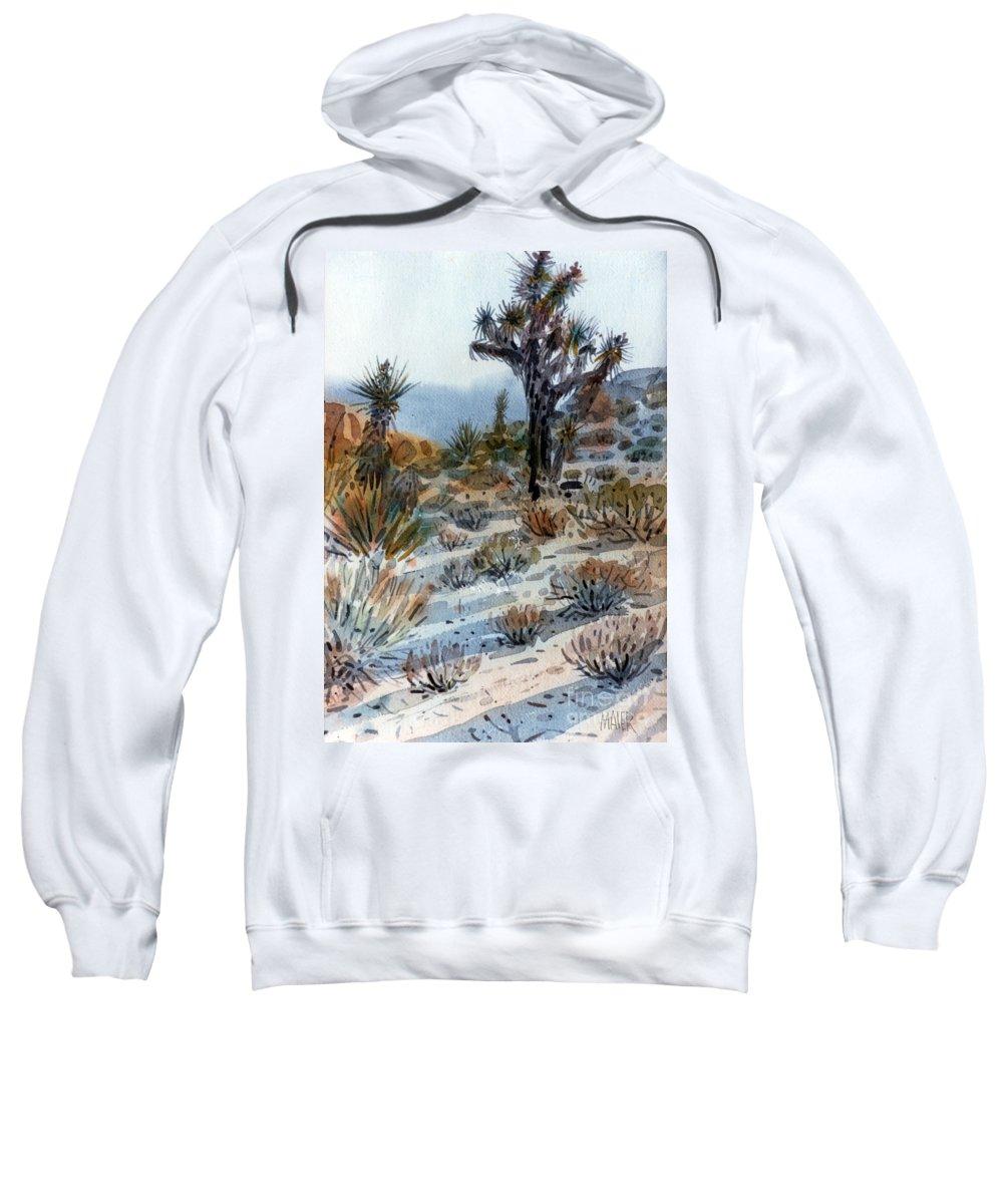 Joshua Tree Sweatshirt featuring the painting Joshua Tree by Donald Maier