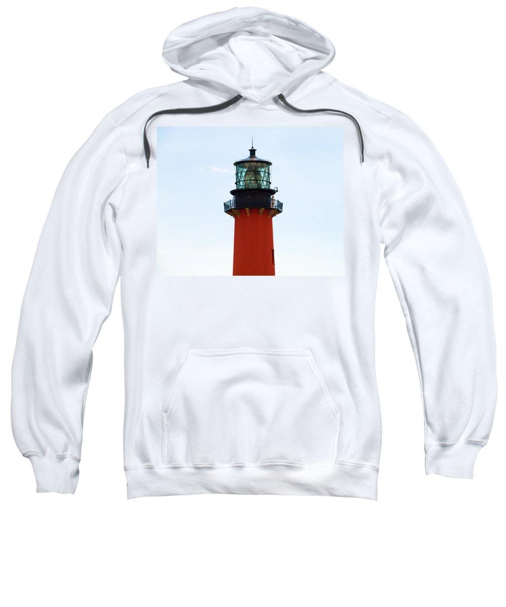 Florida; Juptier; Inlet; Loxahatchee; River; Atlantic; Coast; Shore; Beach; Light; Lighthouse; Beaco Sweatshirt featuring the photograph Jupiter Inlet Florida by Allan Hughes