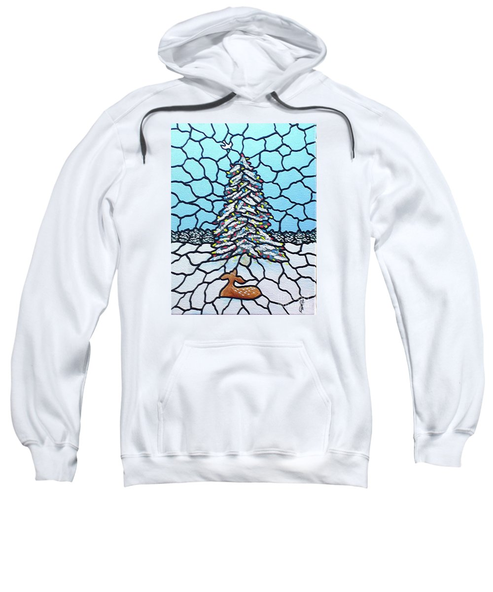 Peace Sweatshirt featuring the painting Let There Be Peace by Jim Harris