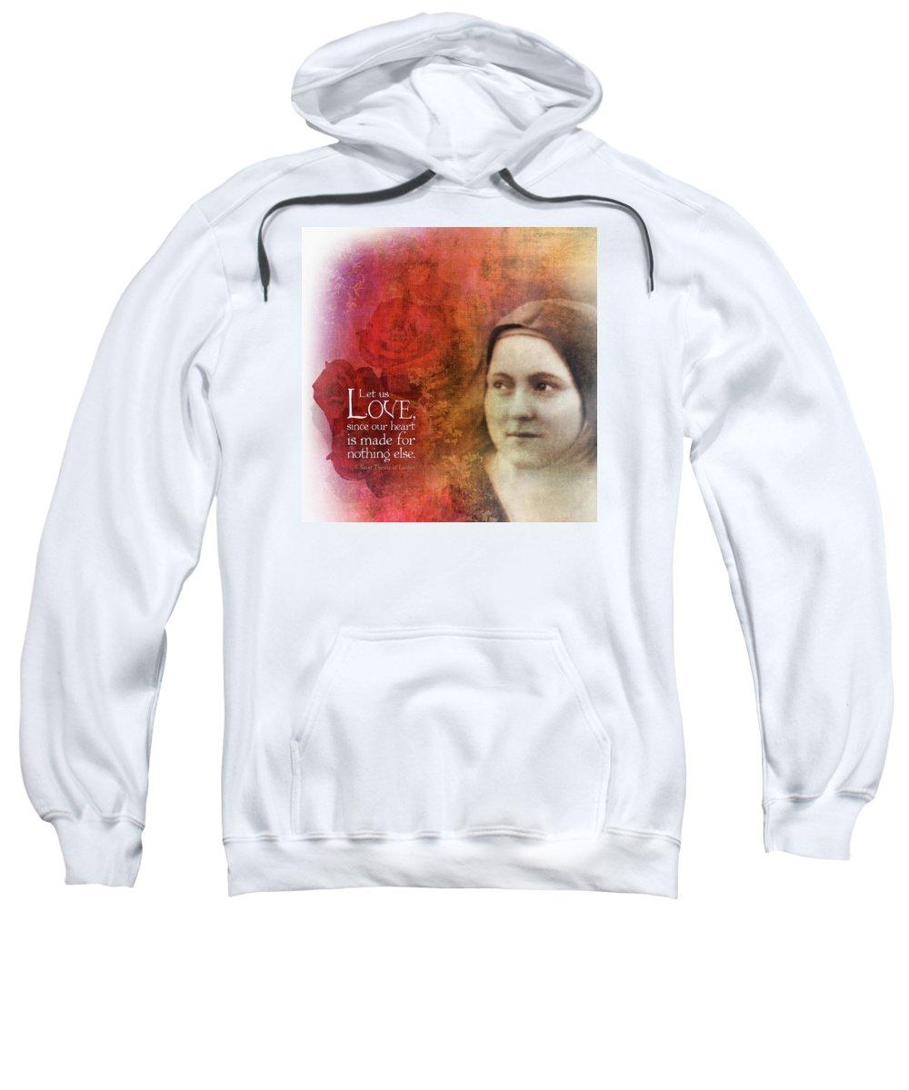 Love Sweatshirt featuring the digital art Let Us Love II by Andy Schmalen