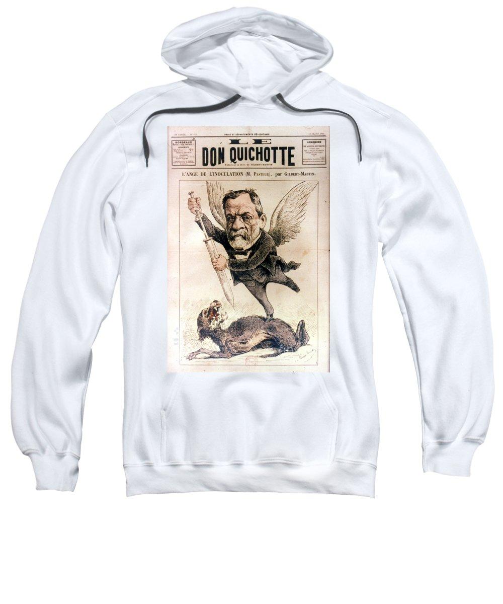 1886 Sweatshirt featuring the photograph Louis Pasteur (1822-1895) by Granger
