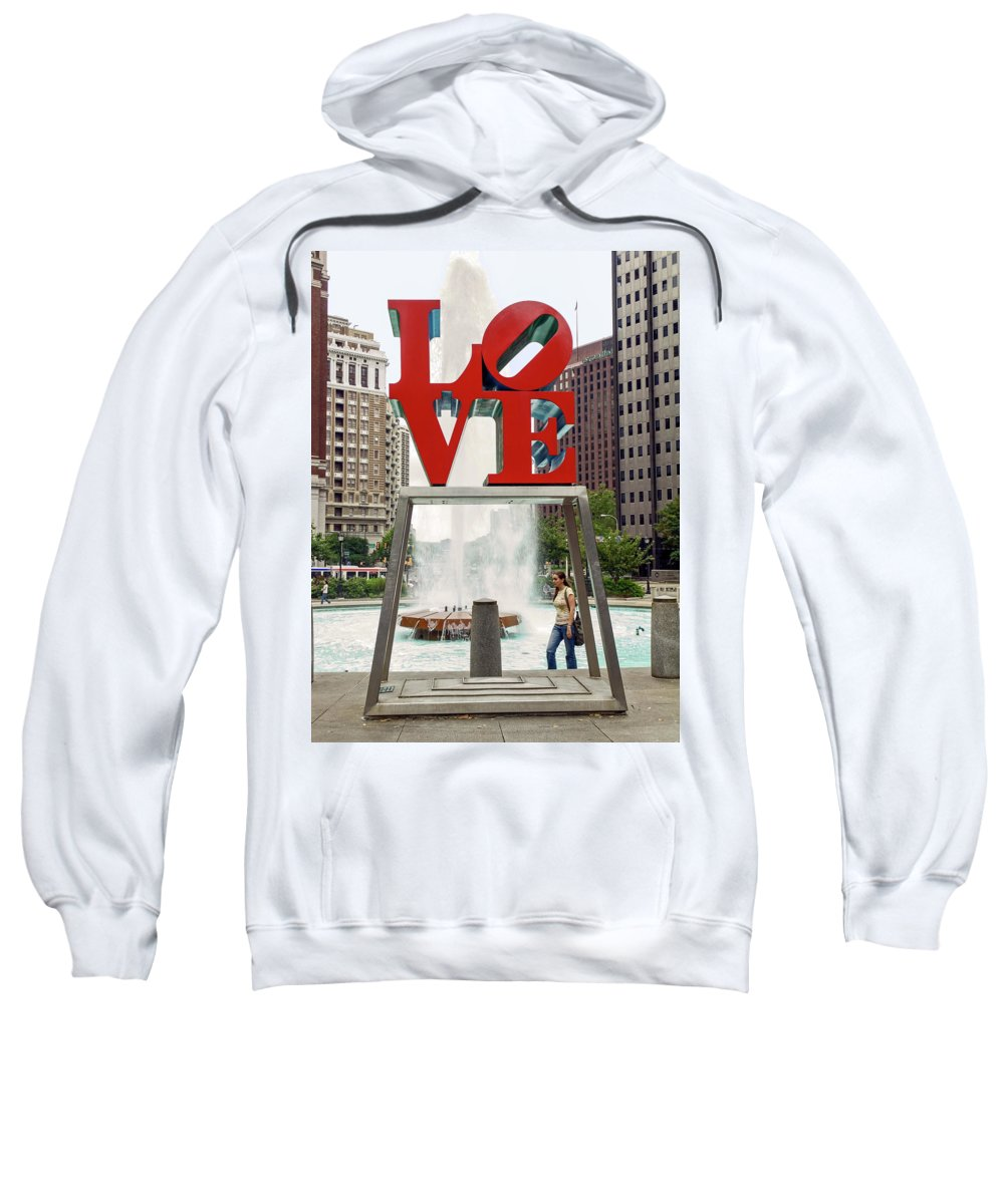Love Sculpture Sweatshirt featuring the photograph Love Sculpture by Sally Weigand