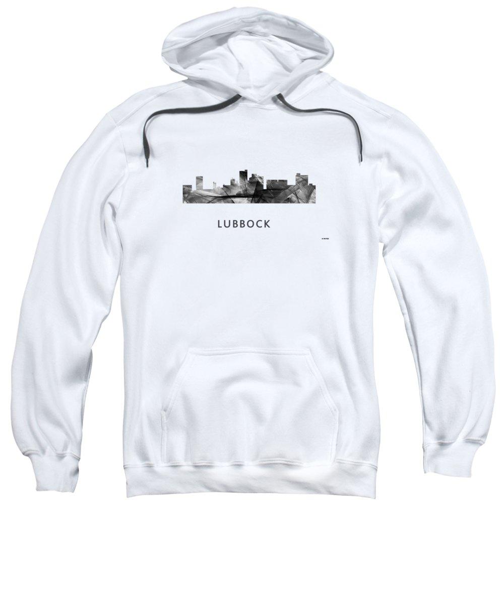 a35d96eee Lubbock Texas Skyline Sweatshirt featuring the digital art Lubbock Texas  Skyline by Marlene Watson