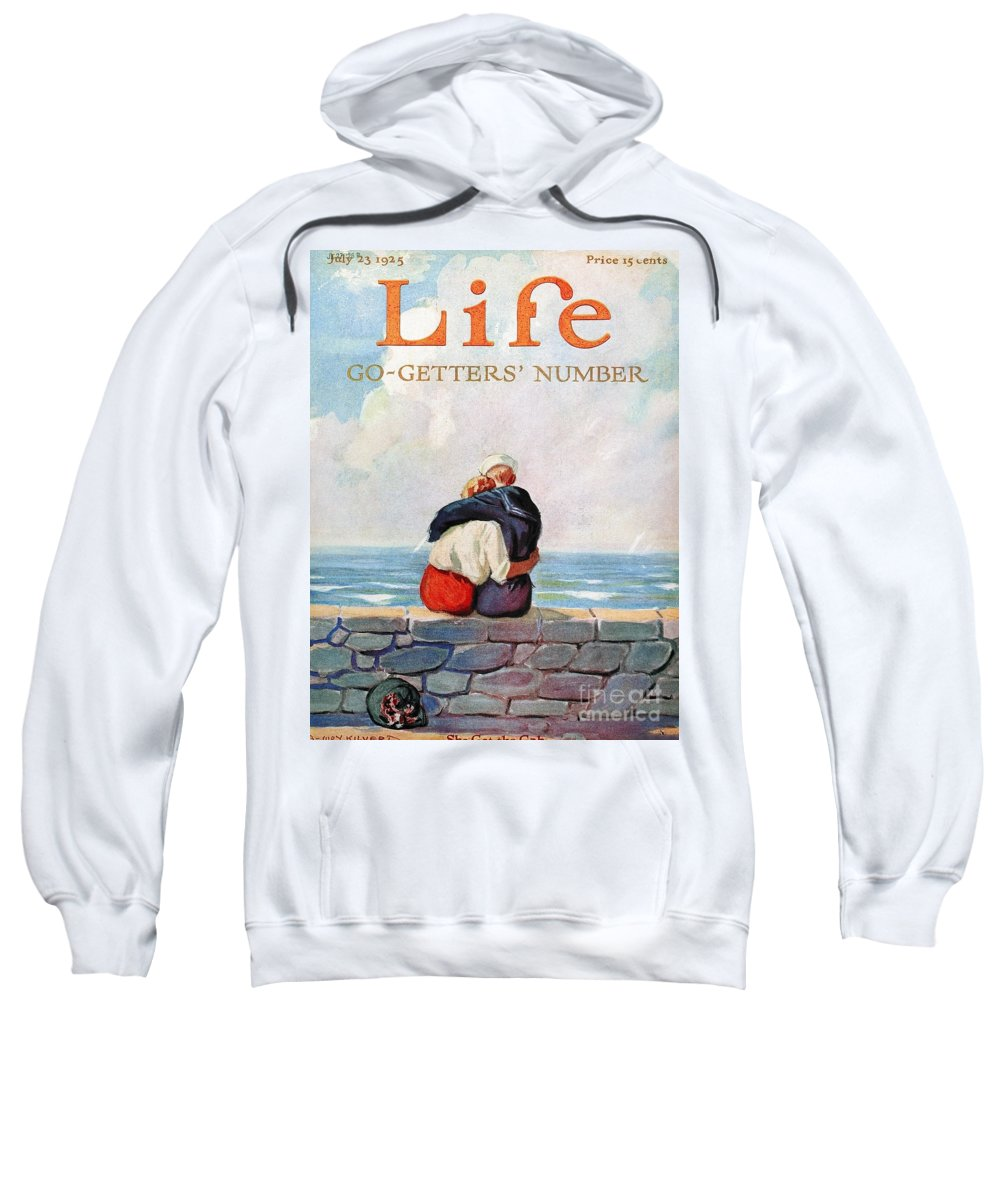 1925 Sweatshirt featuring the photograph Magazine: Life, 1925 by Granger