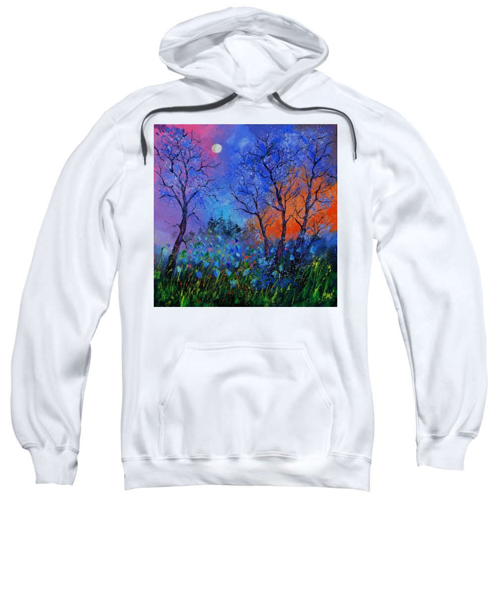 Landscape Sweatshirt featuring the painting Magic wood by Pol Ledent