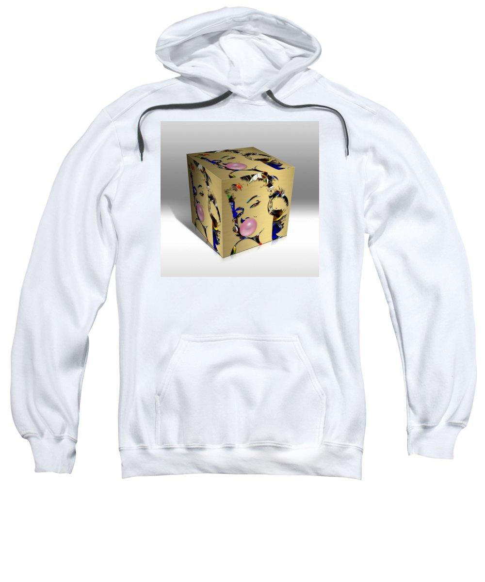 Marilyn Monroe Sweatshirt featuring the mixed media Marilyn Monroe Art by Marvin Blaine