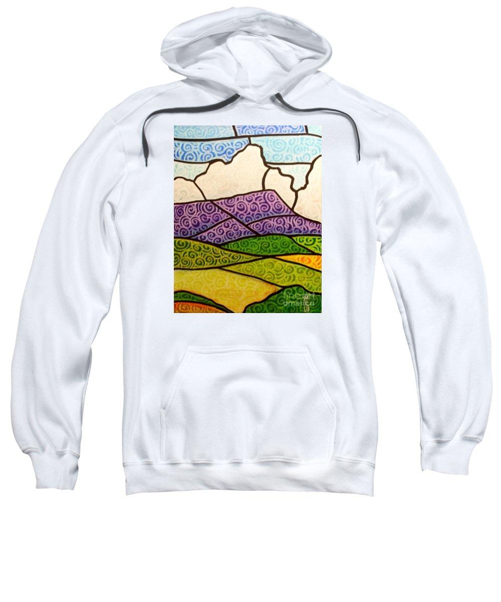 Mountians Sweatshirt featuring the painting Massanutten Peak by Jim Harris