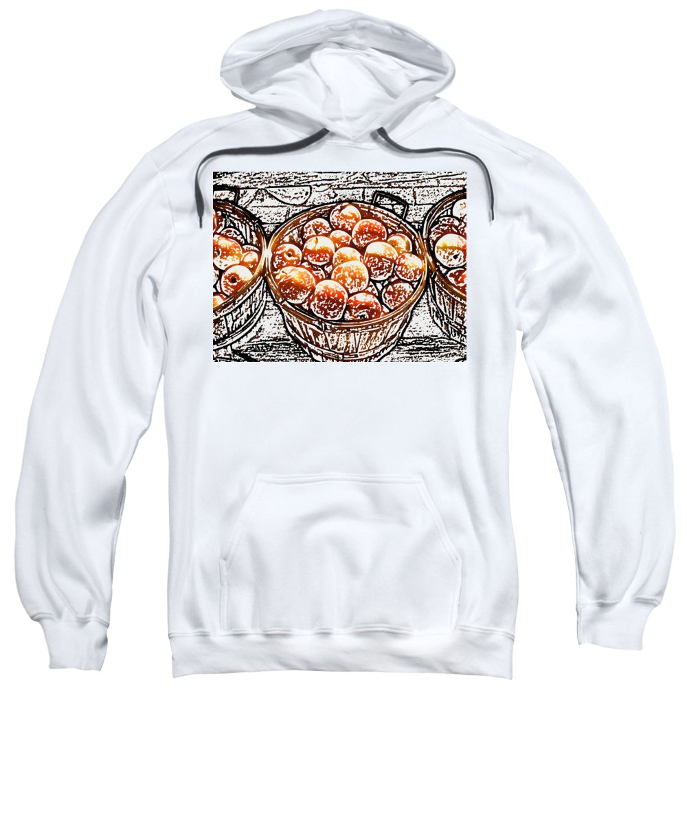 Apples Sweatshirt featuring the photograph Michigan Apples by Wayne Potrafka