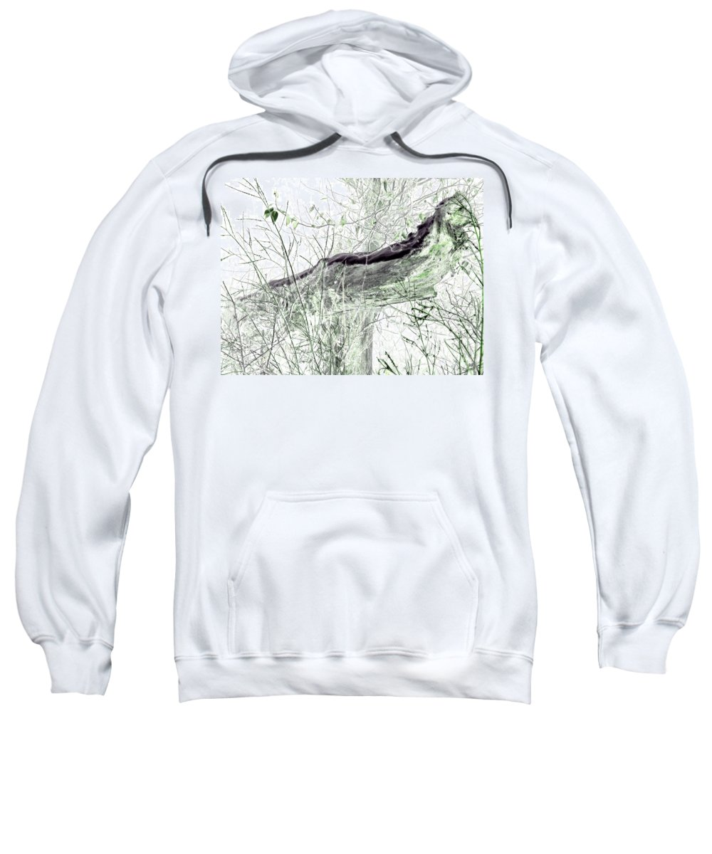Forest Sweatshirt featuring the digital art Misty Morn by Will Borden