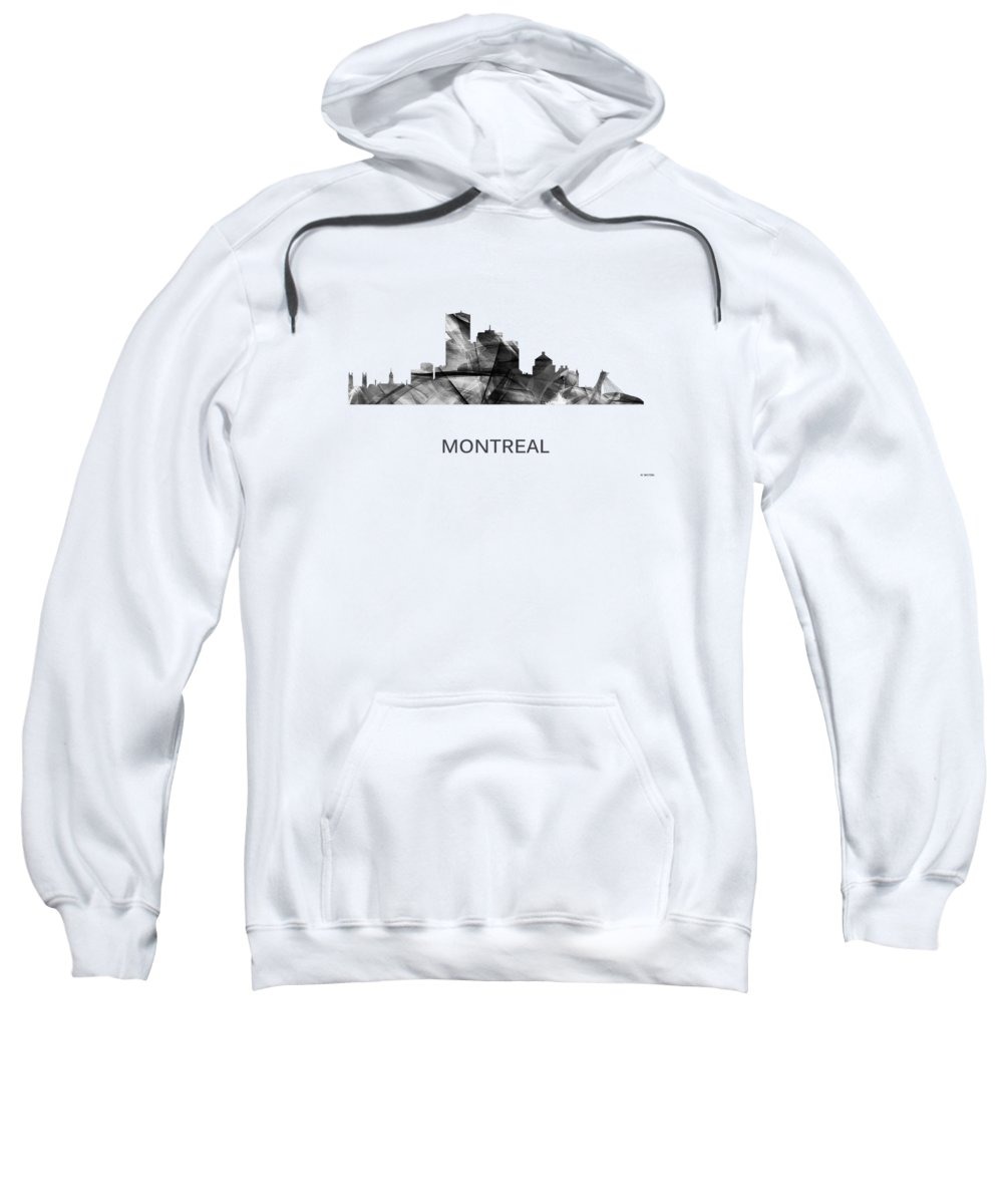 Montreal Que.skyline Sweatshirt featuring the digital art Montreal Que.skyline by Marlene Watson