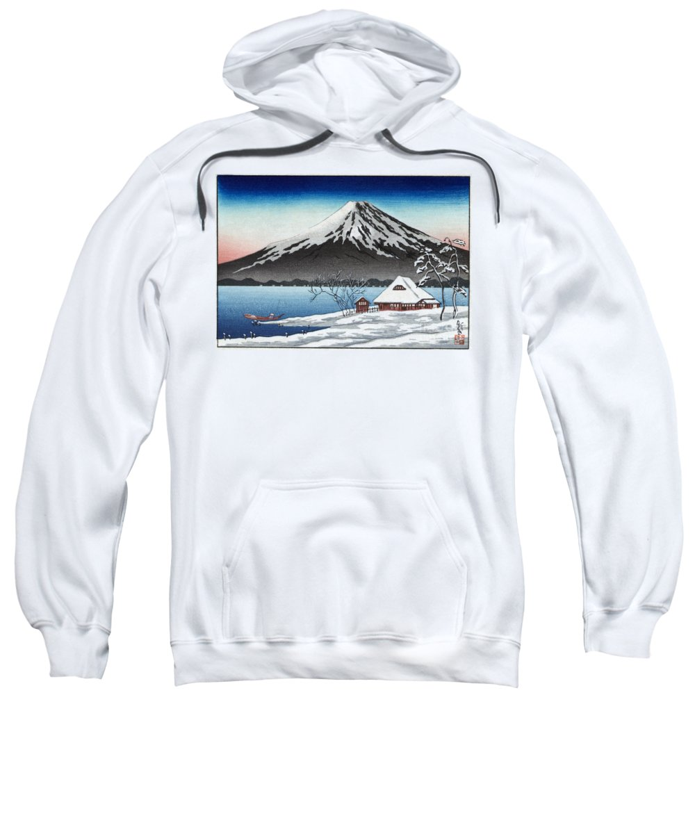 20th Century Sweatshirt featuring the painting Mount Fuji by Granger