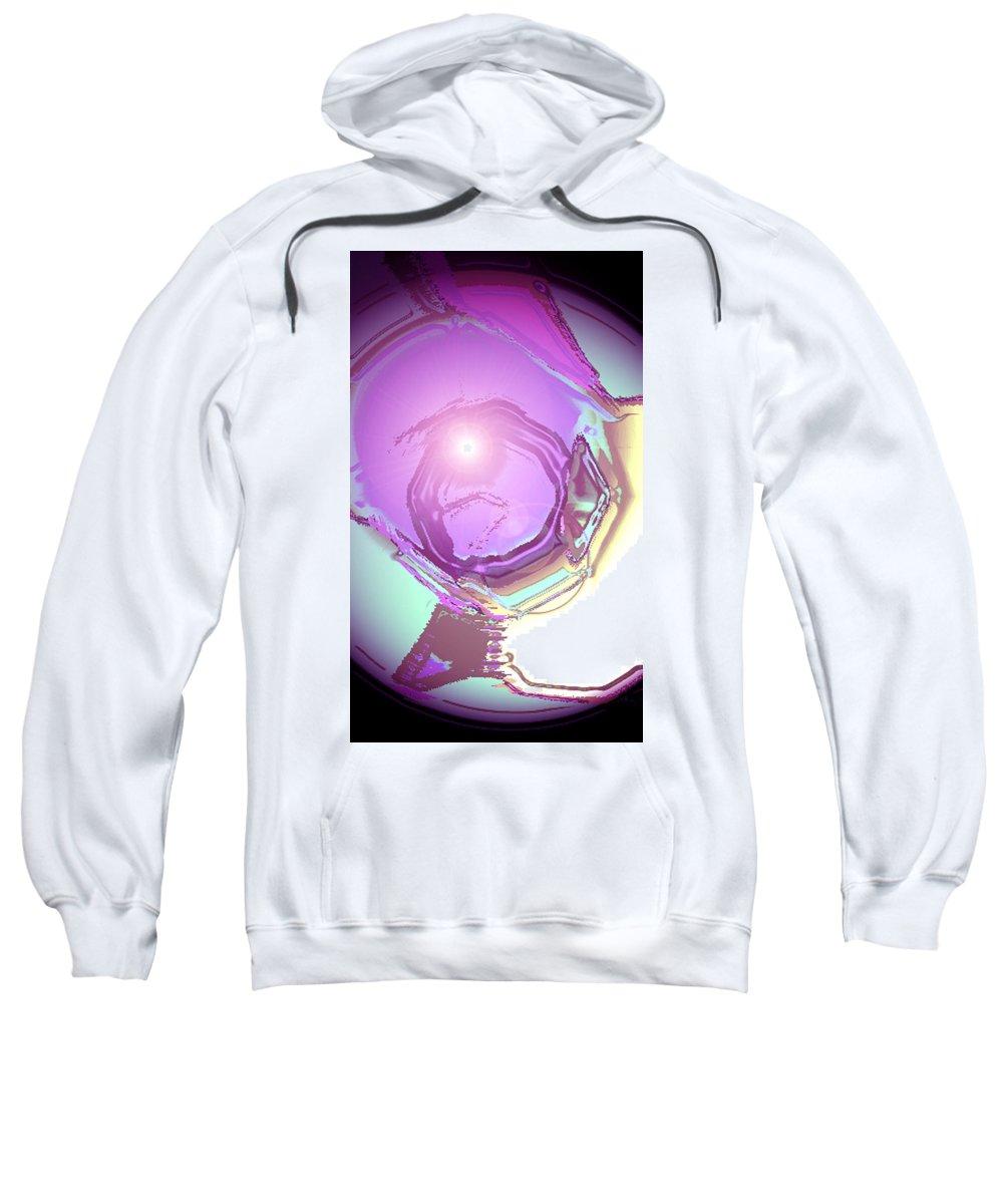 Moveonart! Digital Gallery Sweatshirt featuring the digital art Moveonart Inspiration Intuition Intellect by Jacob Kanduch