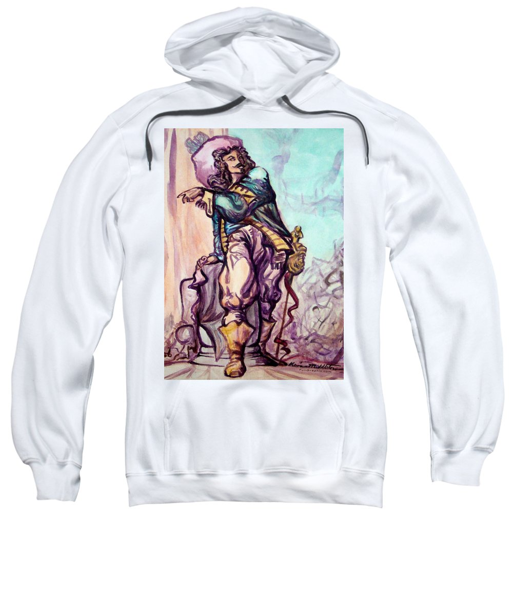 Musketeer Sweatshirt featuring the painting Musketeer by Kevin Middleton