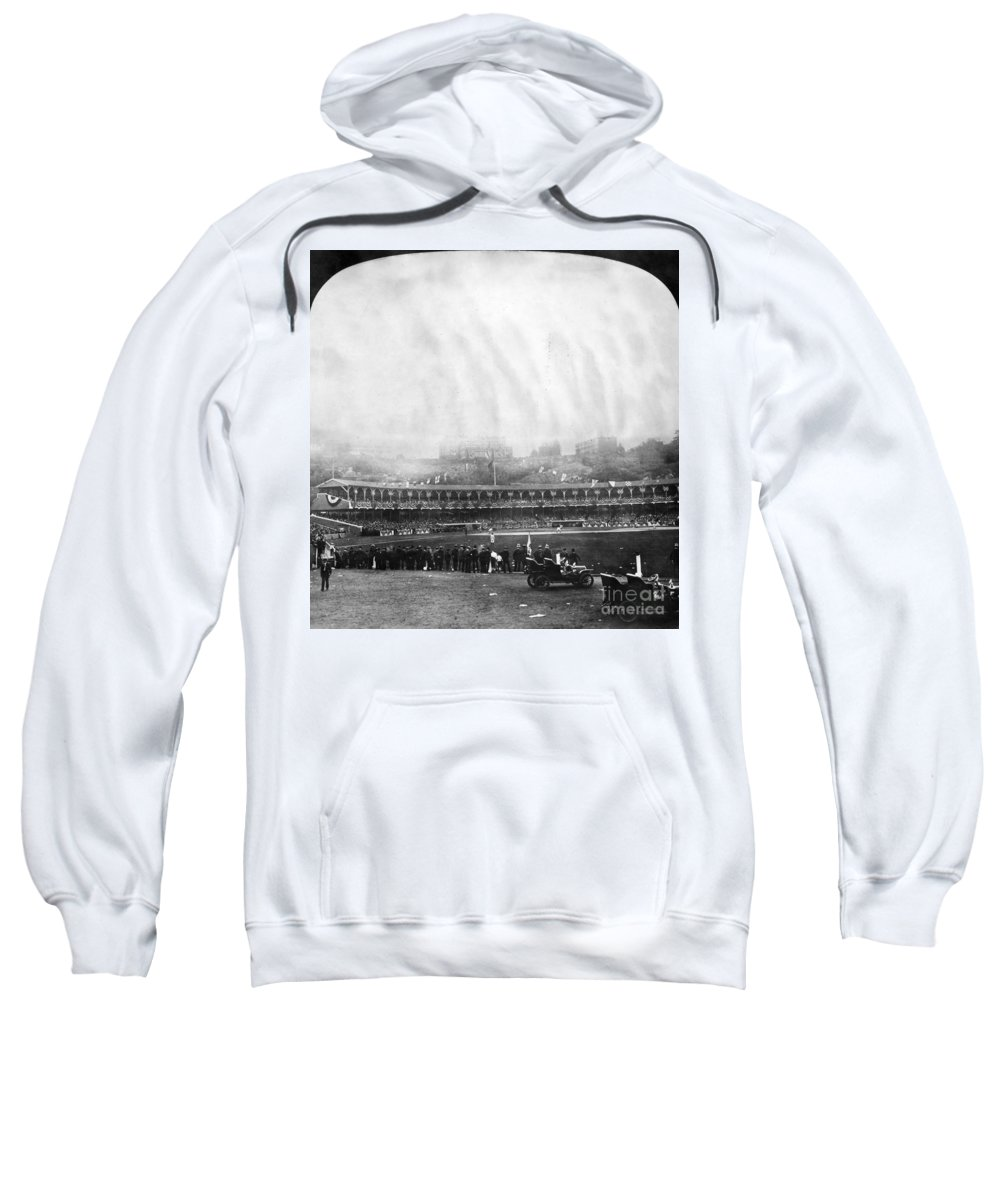 1906 Sweatshirt featuring the photograph New York: Polo Grounds by Granger