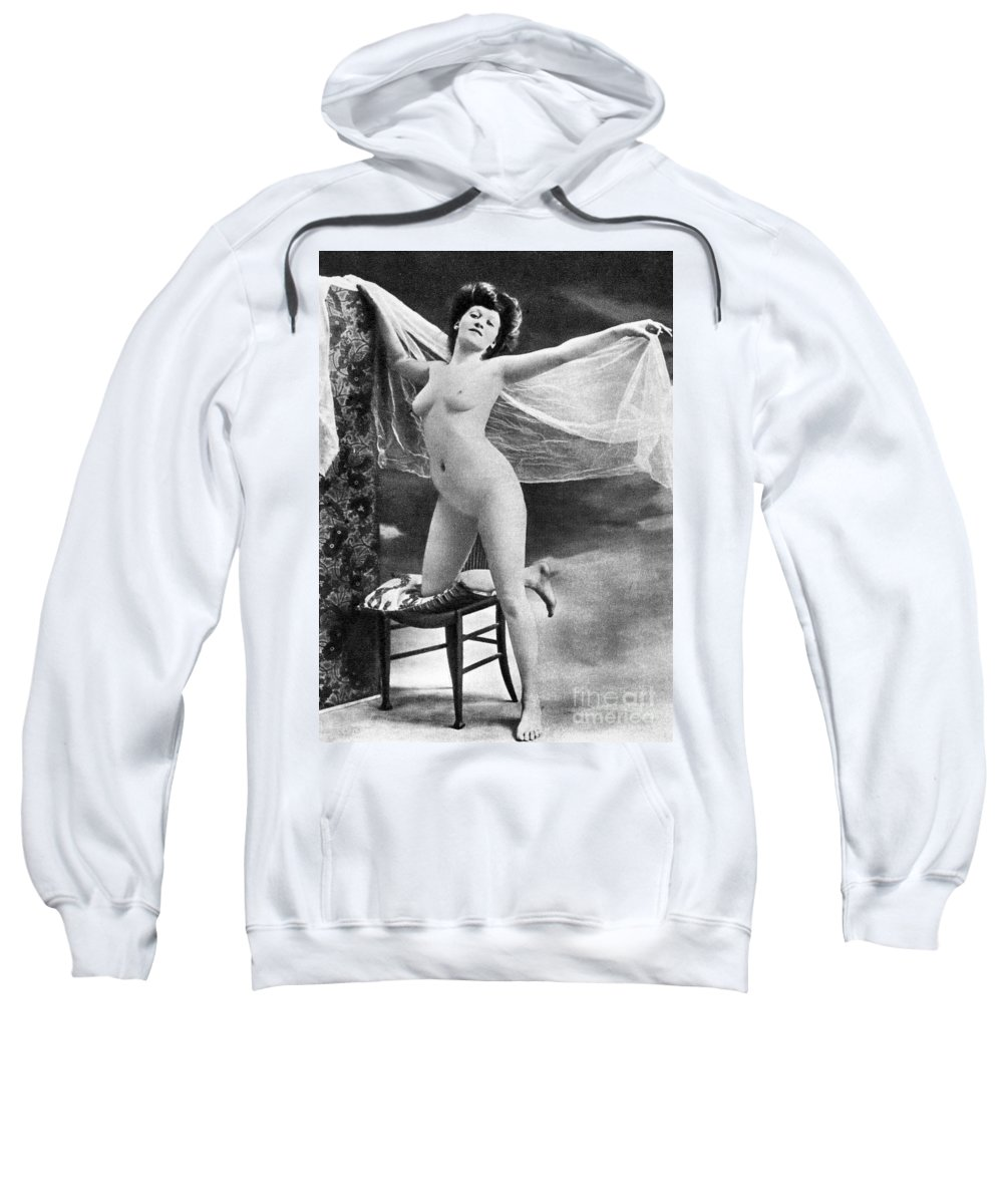 Sweatshirt featuring the painting Nude Posing, C1900 by Granger