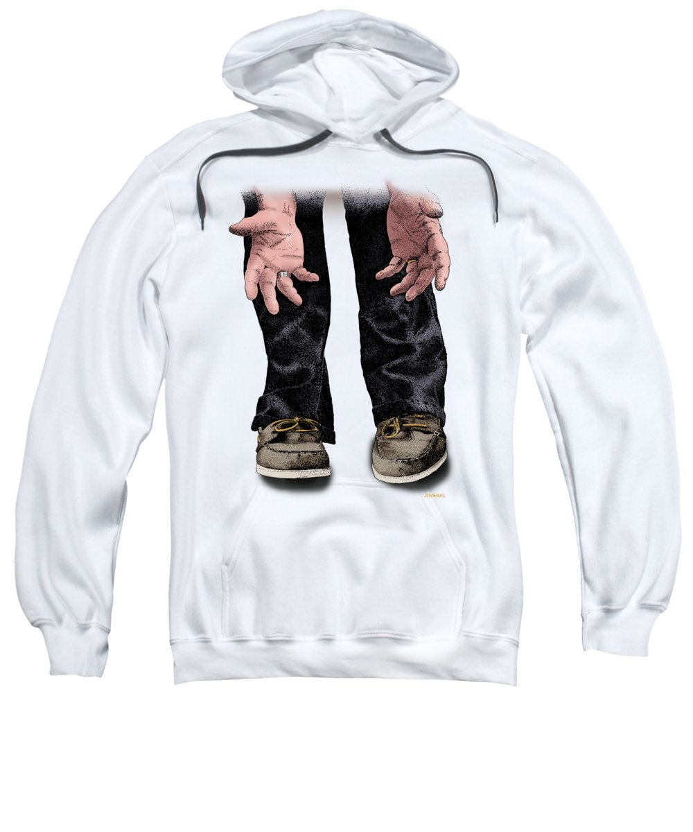 T-shirt Sweatshirt featuring the drawing Pick Me Up Daddy by Joseph Juvenal