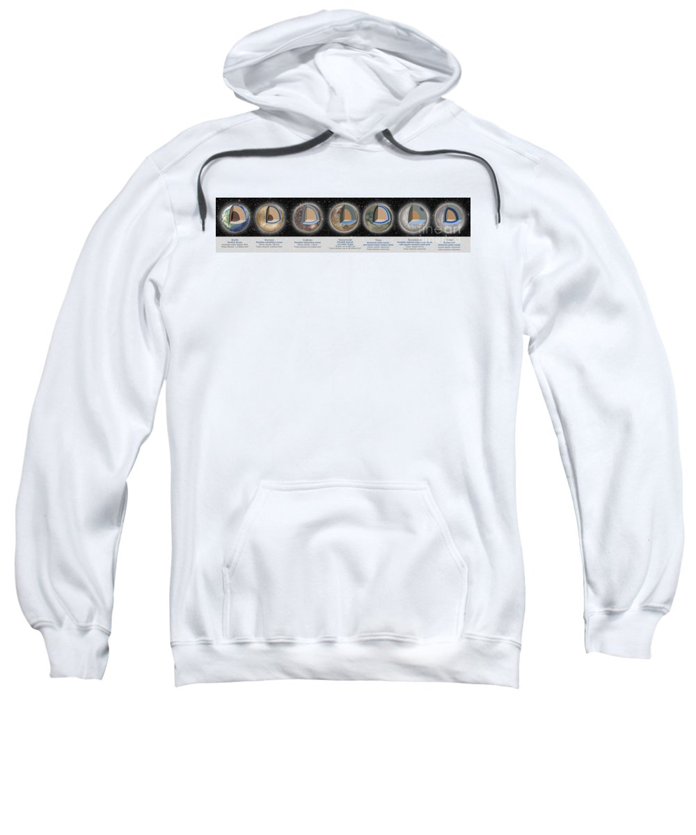 Illustration Sweatshirt featuring the photograph Planet Oceans by Spencer Sutton