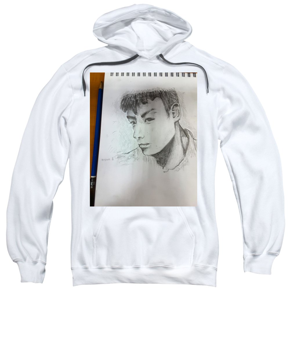 Portrait Sweatshirt featuring the painting Portrait by Tan Lan Ching