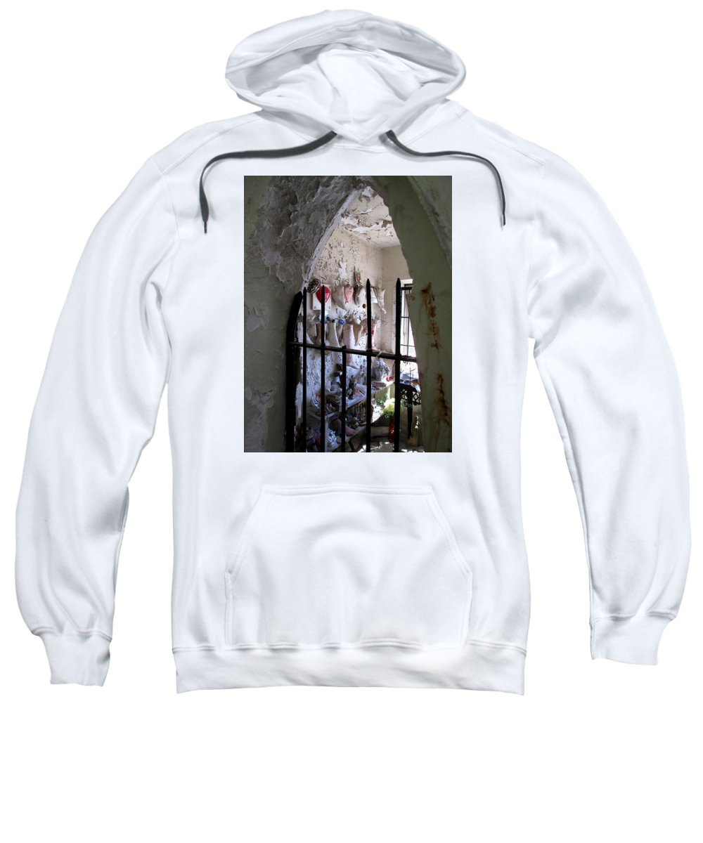 New Orleans Sweatshirt featuring the photograph Saint Roch Chapel by Monte Landis