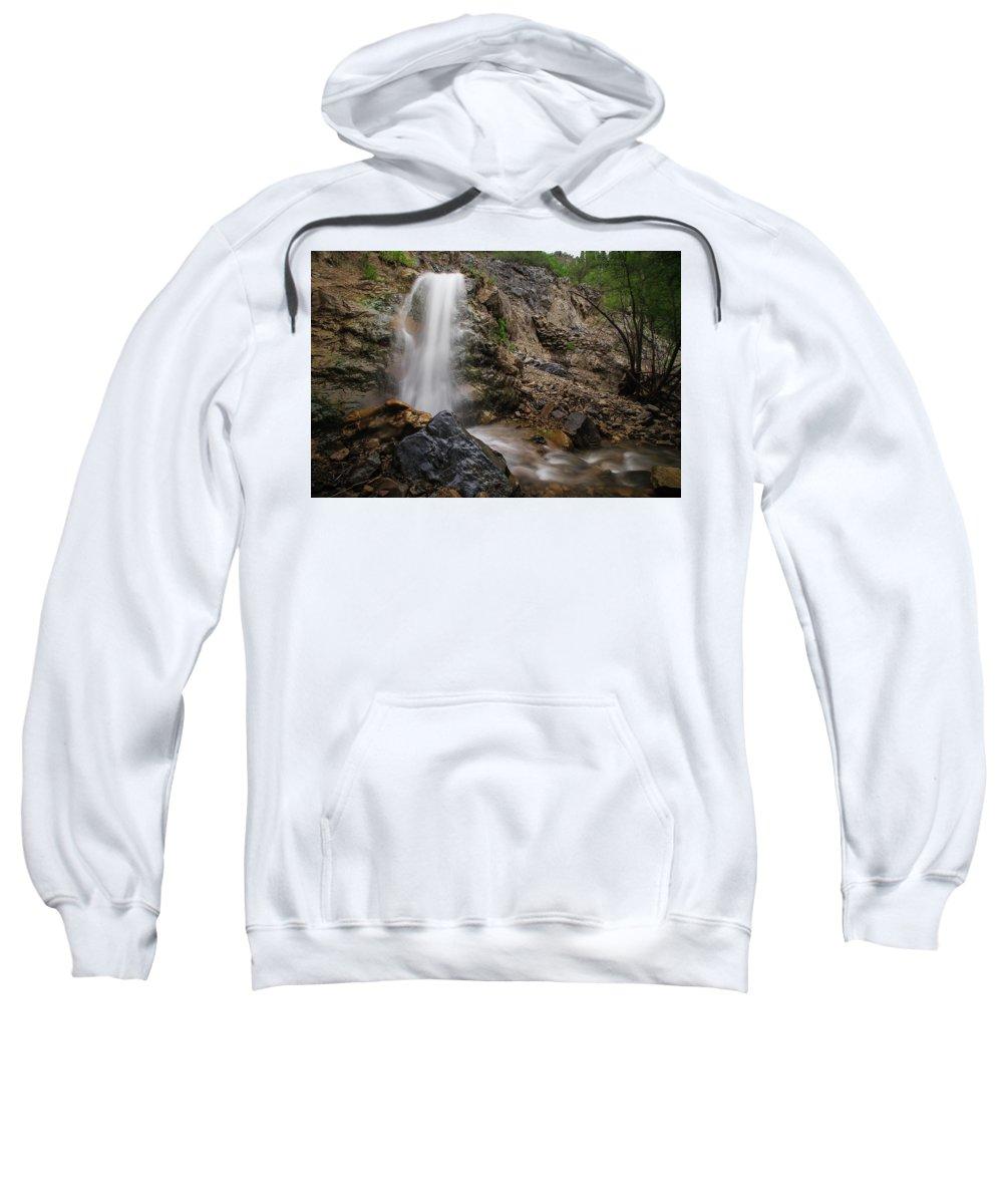 Trailsxposed Sweatshirt featuring the photograph Secret Falls by Gina Herbert