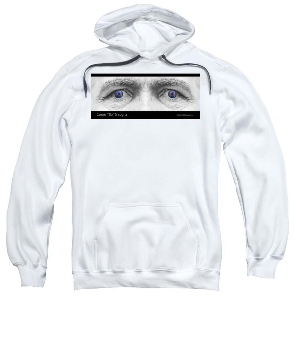 Eyes Sweatshirt featuring the photograph Stormy Angry Eyes by James BO Insogna