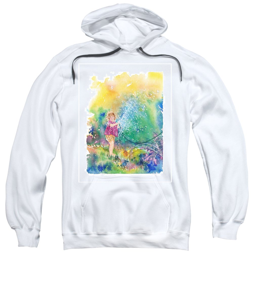 Children Sweatshirt featuring the painting Summer Fun by Gale Cochran-Smith