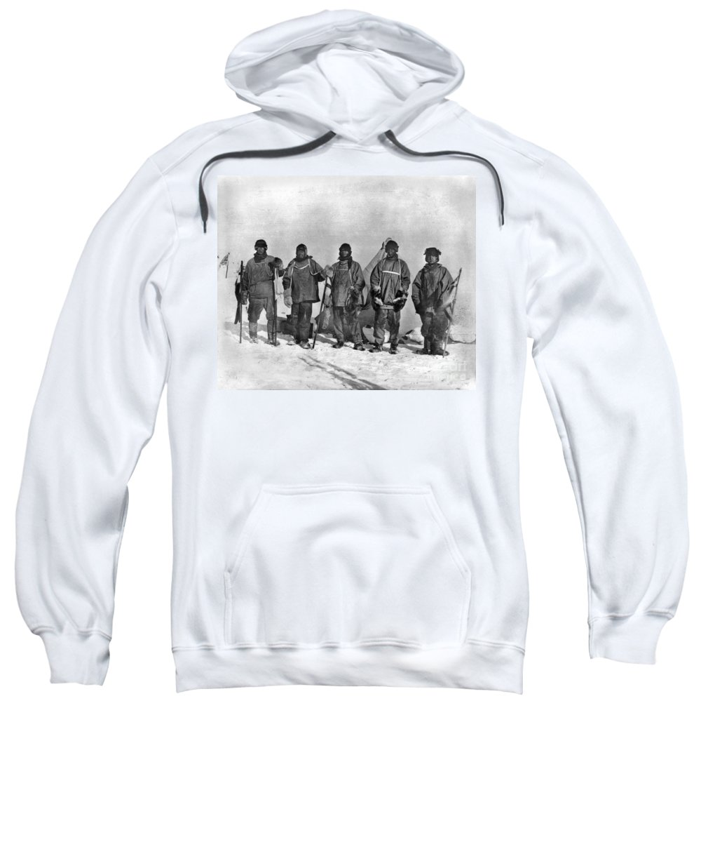 1912 Sweatshirt featuring the painting Terra Nova Expedition by Granger