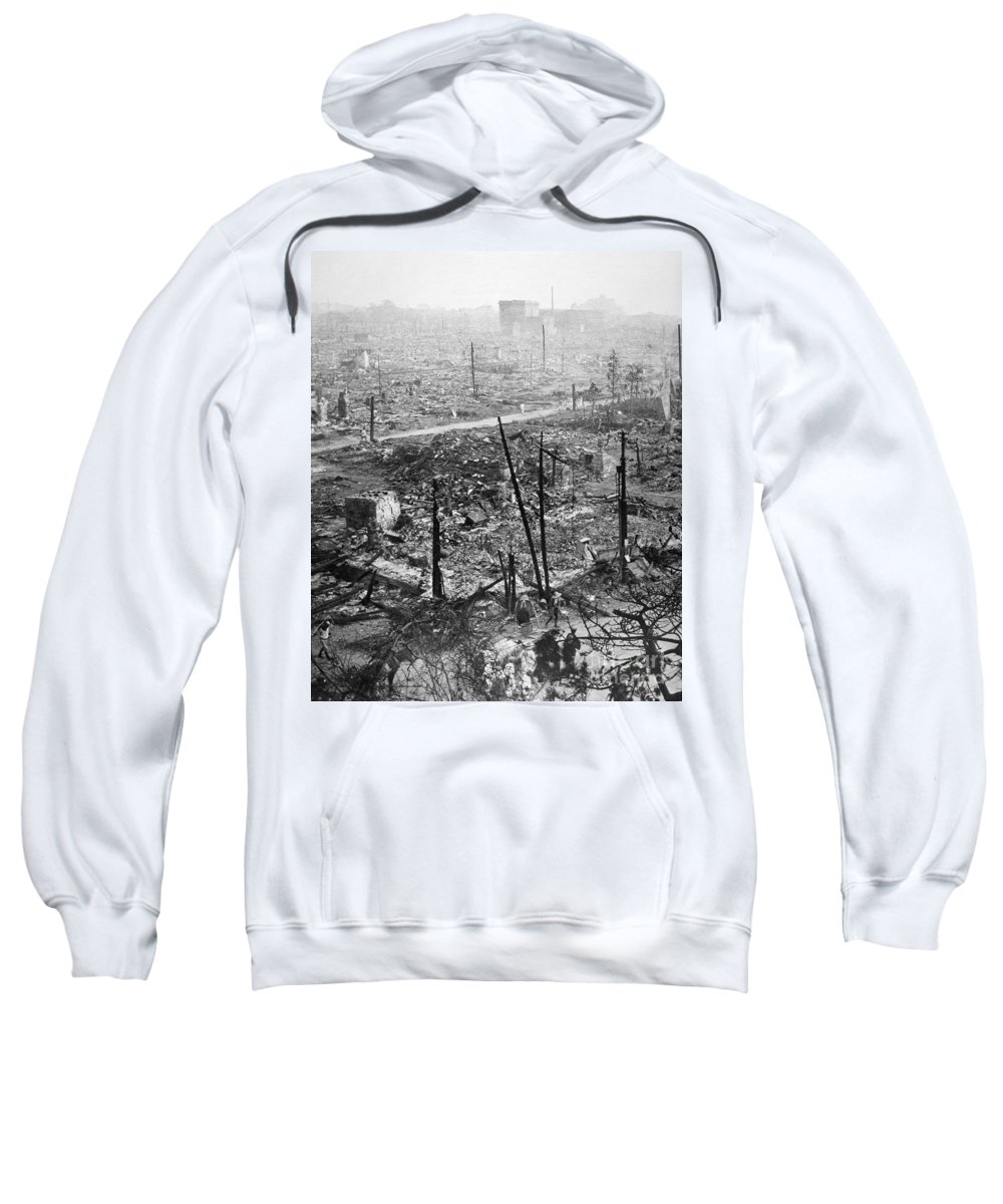 1923 Sweatshirt featuring the photograph Tokyo Earthquake, 1923 by Granger