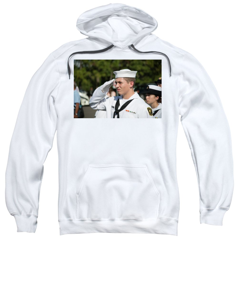 Cape Coral Sweatshirt featuring the photograph Us Naval Sea Cadet Corps - Gulf Eagle Division, Cape Coral, Florida by Timothy Wildey