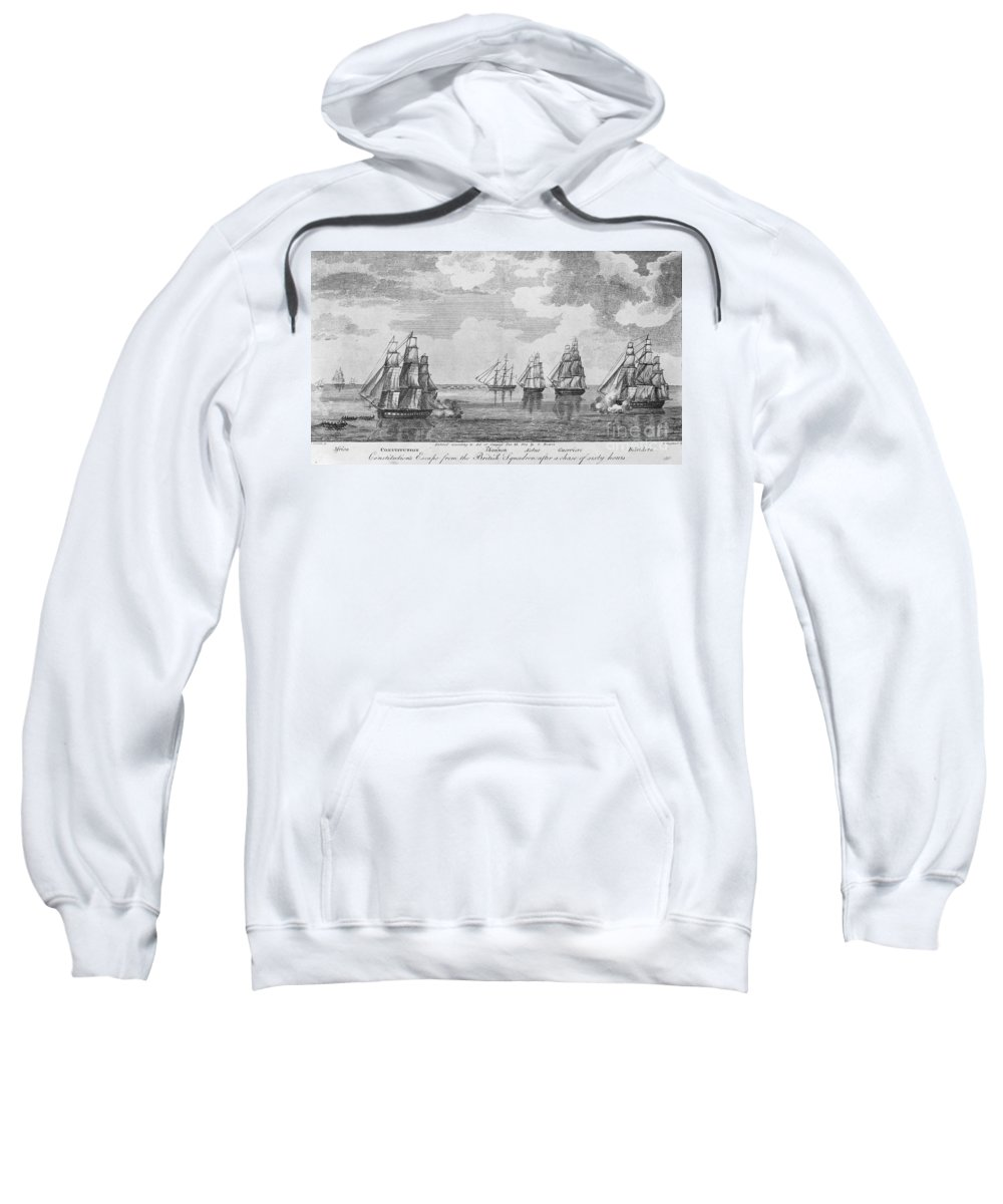 1812 Sweatshirt featuring the photograph War Of 1812: Sea Battle by Granger