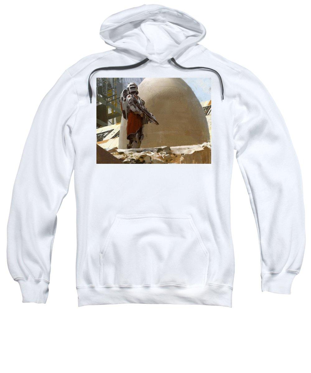 Warrior Sweatshirt featuring the digital art Warrior by Bert Mailer