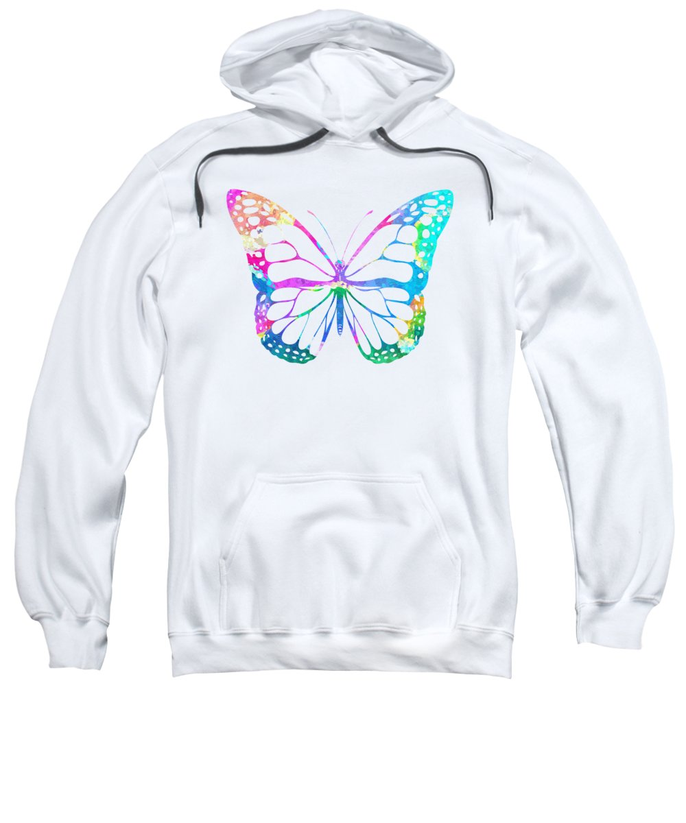 Watercolor Sweatshirt featuring the painting Watercolor Butterfly by Zuzi 's