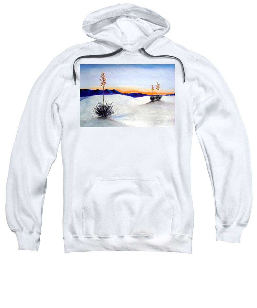 White Sands Sweatshirt featuring the painting White Sands by Melinda Etzold