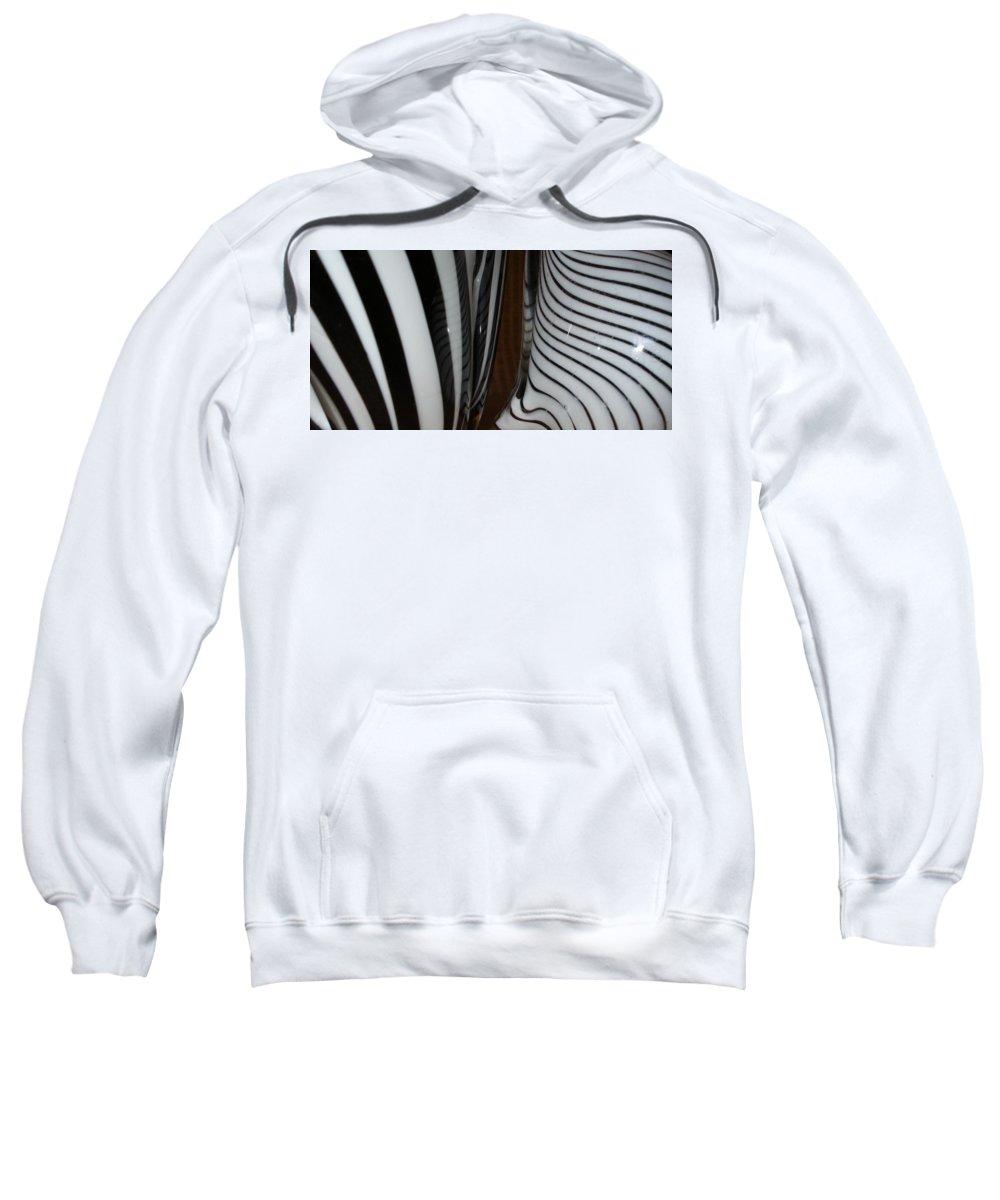 Blac Sweatshirt featuring the photograph Zebra Glass by Maria Bonnier-Perez