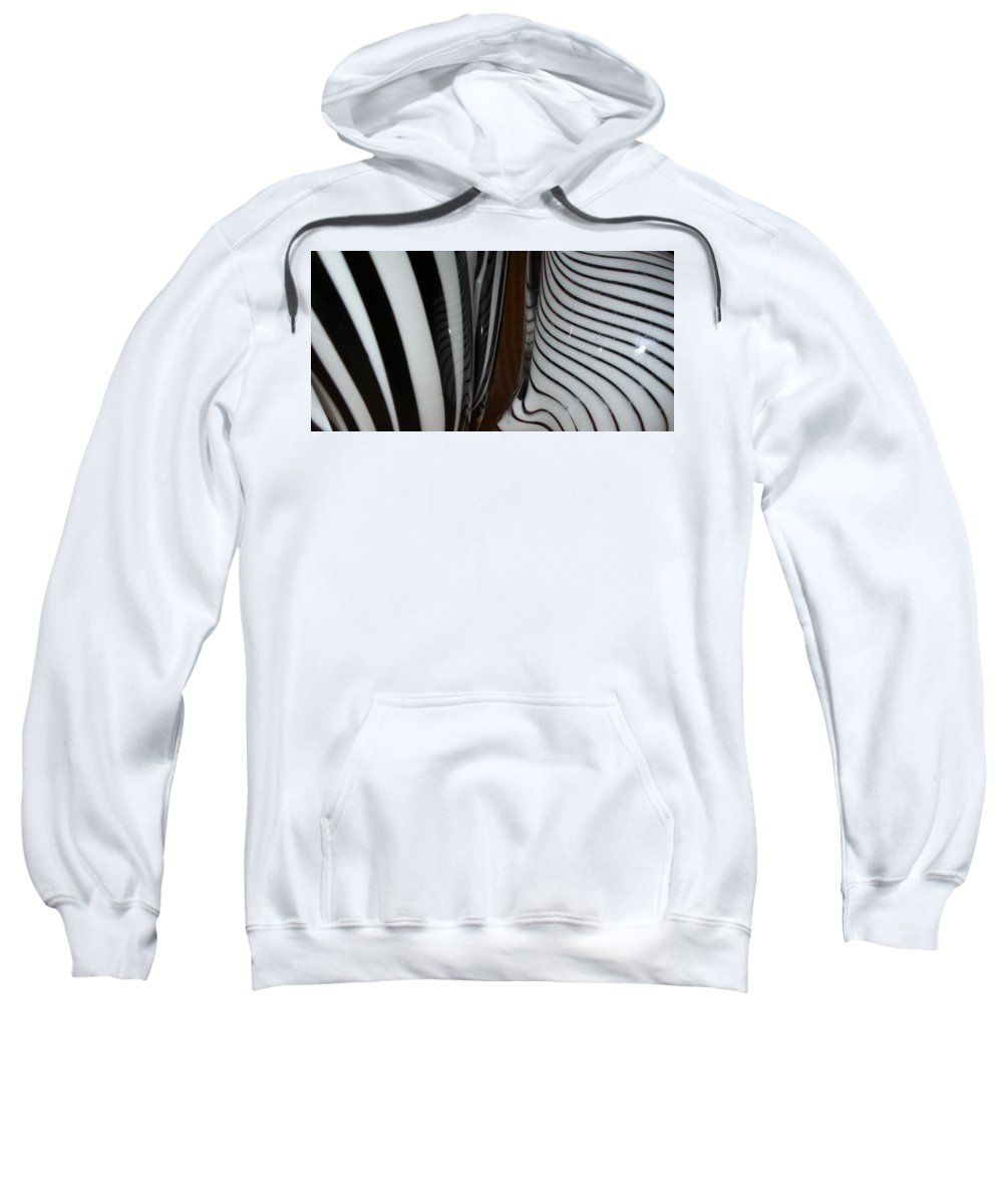 Blac Sweatshirt featuring the photograph Zebra Glass by Maria Bonnier-Perez