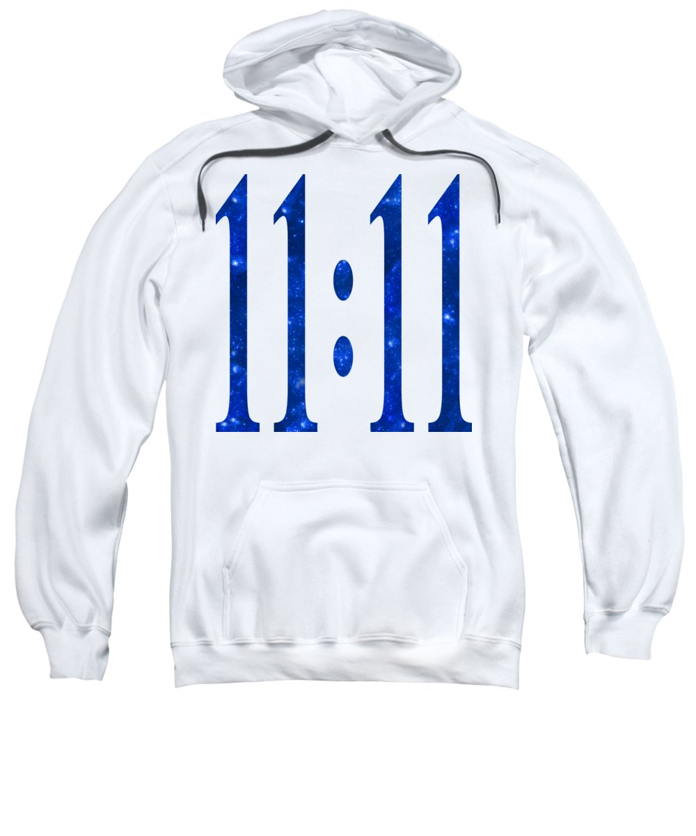 11:11 Sweatshirt featuring the digital art 11 11 by Ginny Gaura
