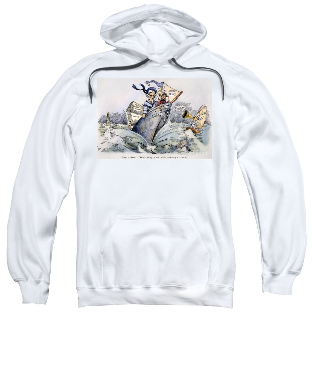 1904 Sweatshirt featuring the photograph Presidential Campaign 1904 by Granger