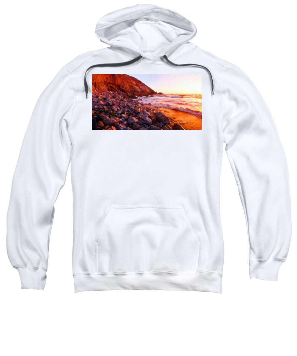 Landscape Sweatshirt featuring the painting Nature Cool Landscape by World Map
