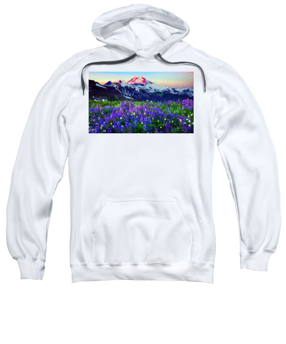 Landscape Sweatshirt featuring the painting Nature Landscape Graphics by World Map