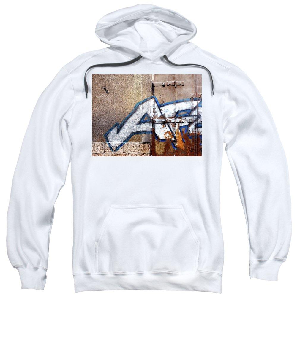 Graffiti Sweatshirt featuring the digital art Graffiti by Mery Moon