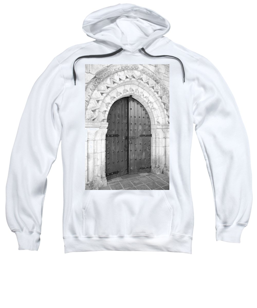 Wooden Doors Sweatshirt featuring the photograph Miami Monastery by Rob Hans
