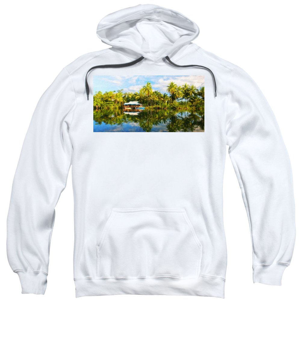 Landscape Sweatshirt featuring the painting Landscape Nature Pictures by World Map
