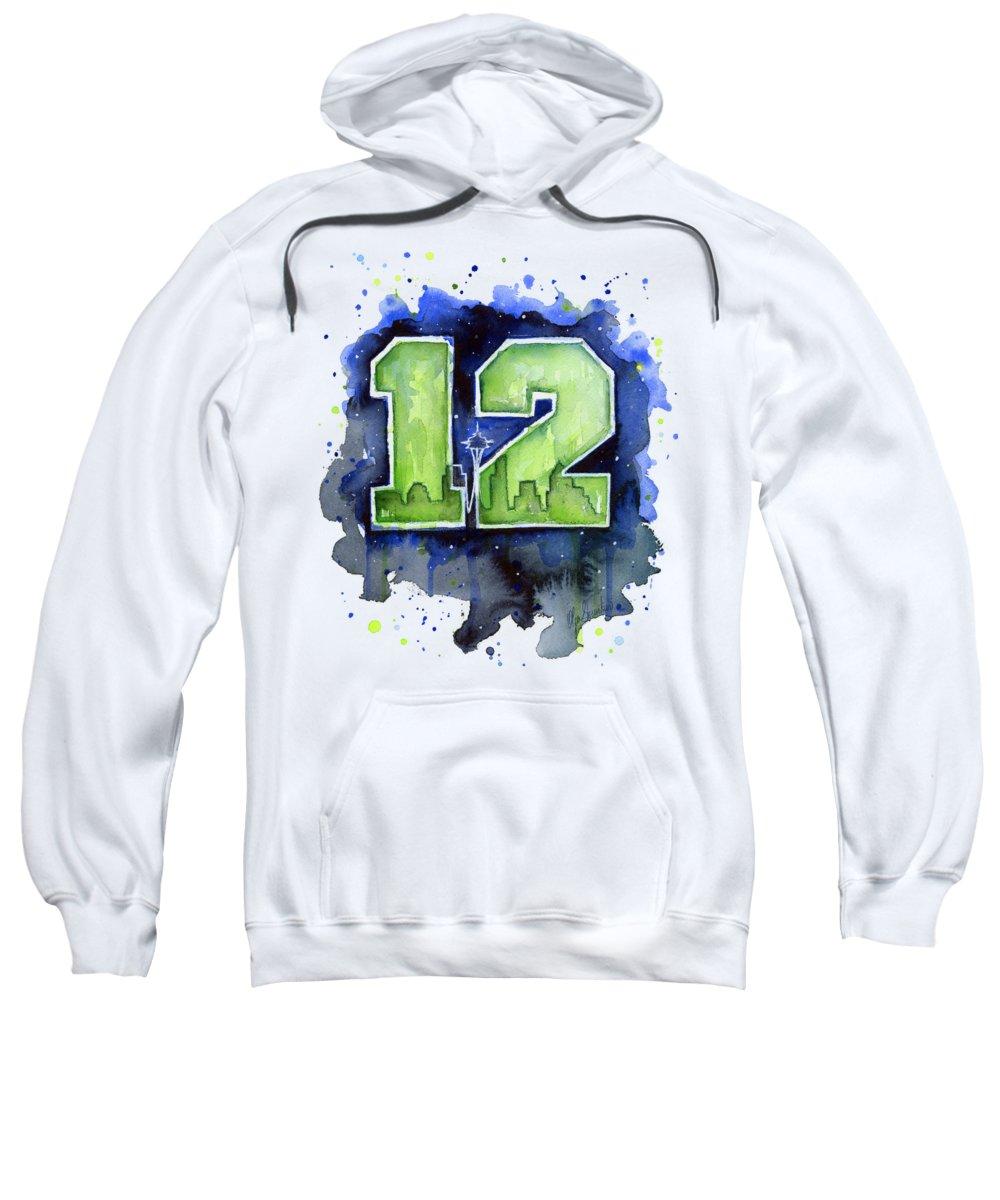 cheaper 80563 5cb16 12th Man Seahawks Art Seattle Go Hawks Sweatshirt