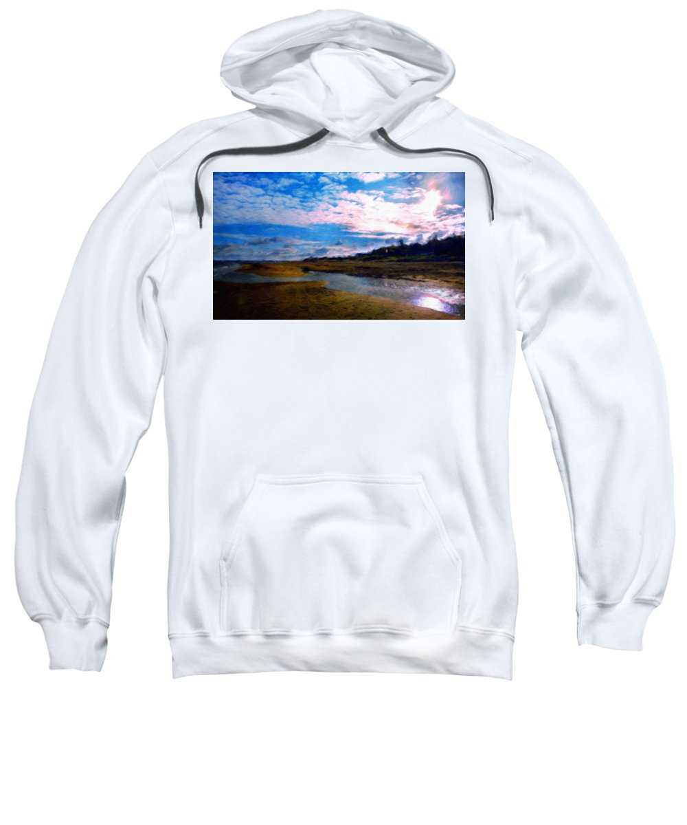 Landscape Sweatshirt featuring the painting Nature Landscape Oil Painting On Canvas by World Map