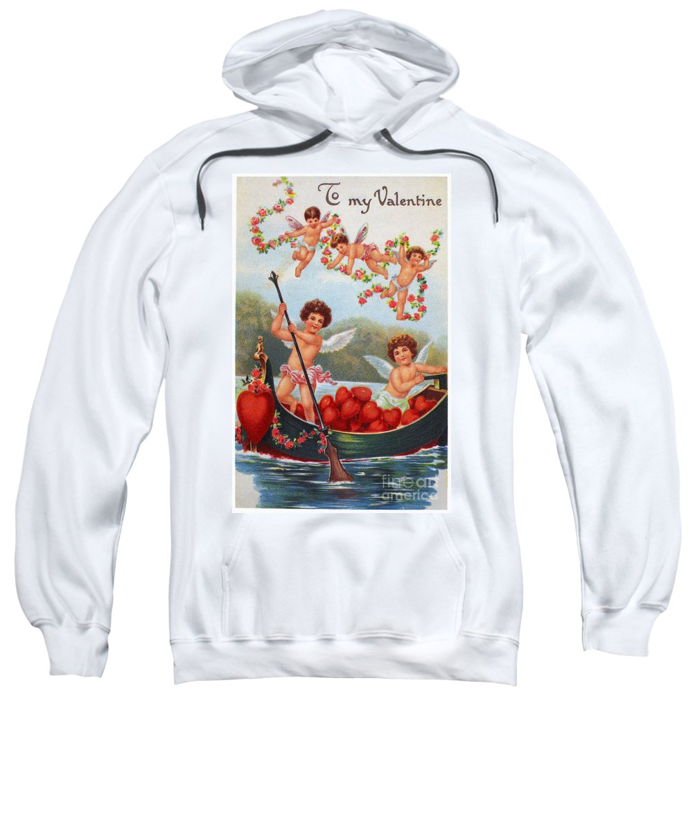1913 Sweatshirt featuring the photograph Valentines Day Card by Granger