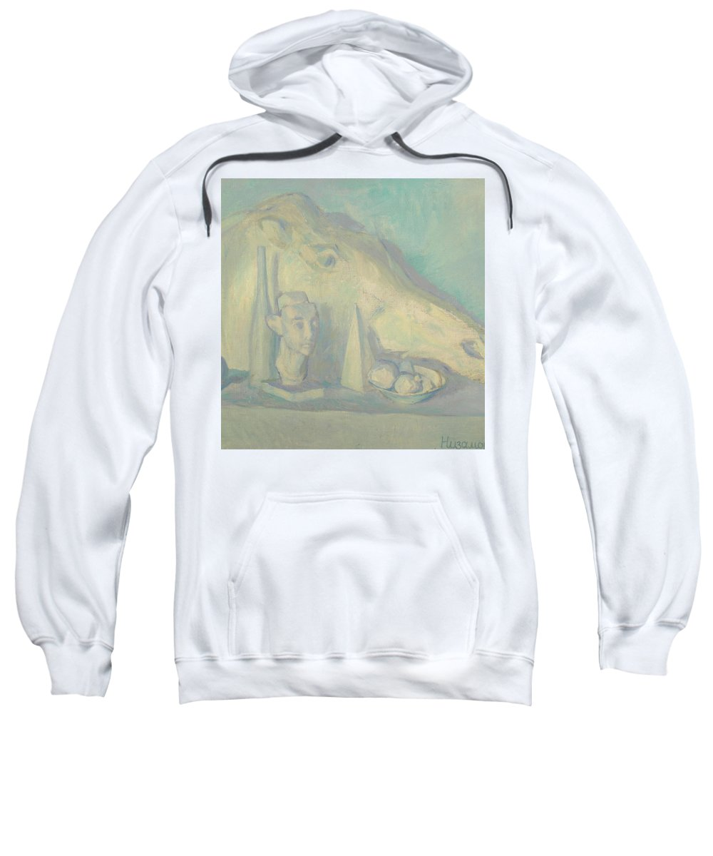 Sculpture Sweatshirt featuring the painting Still Life by Robert Nizamov