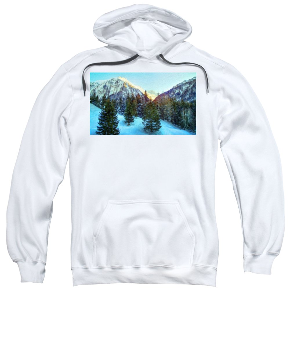 Landscape Sweatshirt featuring the painting Nature Oil Paintings Landscapes by World Map