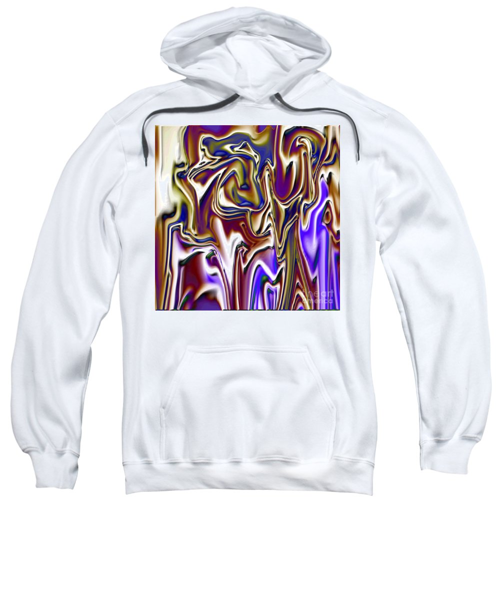 Abstract Sweatshirt featuring the digital art 1717 Abstract Thought by Chowdary V Arikatla